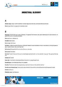 لغت نامه تخصصی بسکتبال فیبا اروپا